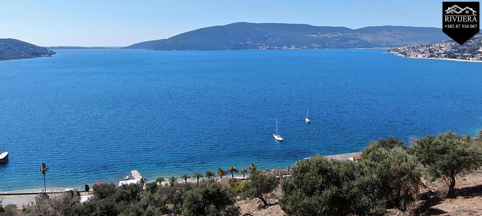 Investicija atraktivno zemljište pogled na more Zelenika