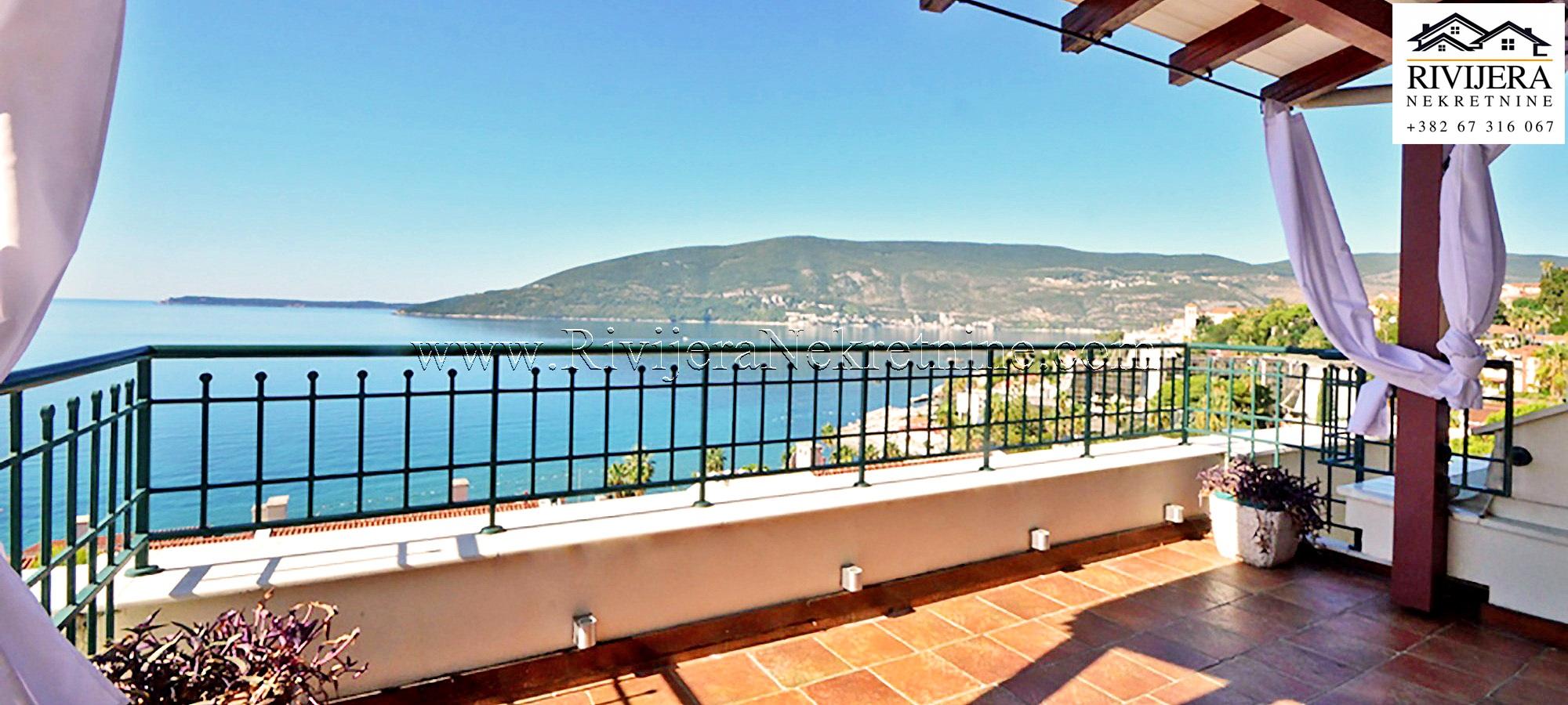 Herceg Novi Savina stan sa panoramskim pogledom na more