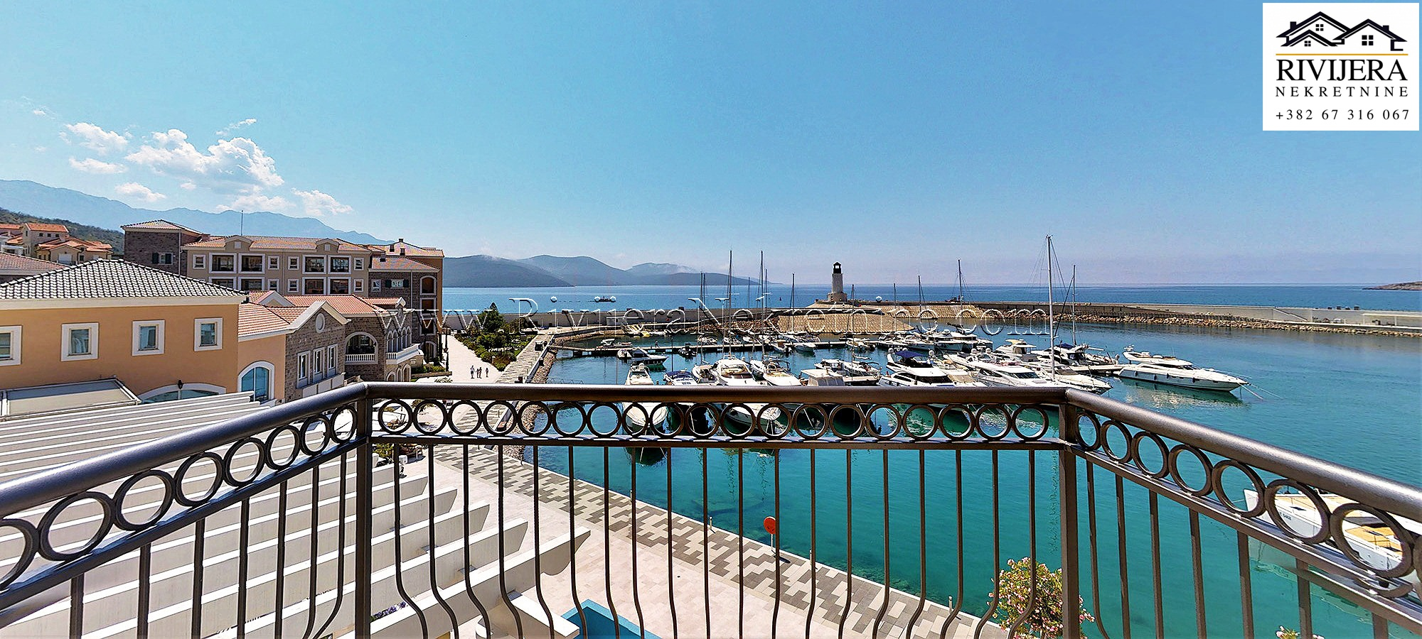 1-bedroom waterfront apartment Lustica bay